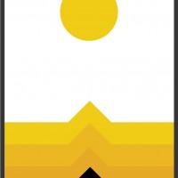 Желтый постер