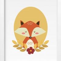 Детский постер Fox