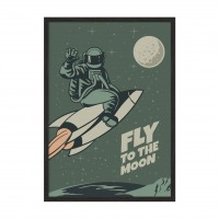 Fly to the moon.