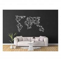 Декор на стену  -  Карта Мира.