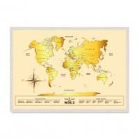 Карта мира Gold.