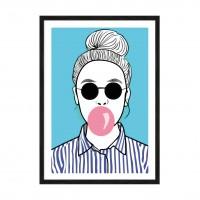 Bubble girl.