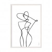 Abstract art Girl.