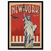 """Ретро постер """"New York"""""""