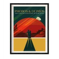 Ретро постер Фобос и Демос