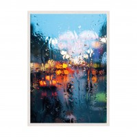 City in Rain.
